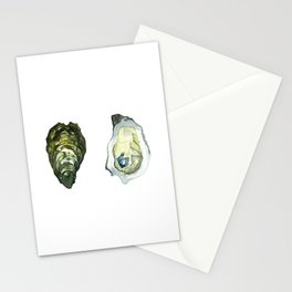 Watercolor Atlantic Oysters #1 by Artume Stationery Cards
