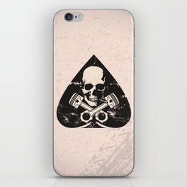Grunge ace of spades iPhone Skin