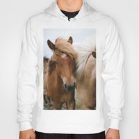 iceland Hoodies featuring Iceland Horses by LUKE/MALLORY