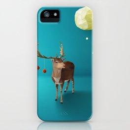 Low Poly Reindeer iPhone Case