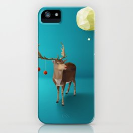 Low Poly Reindeer iPhone Case