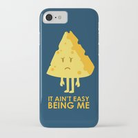 sayings iPhone & iPod Cases featuring It ain't easy being cheesy by Picomodi