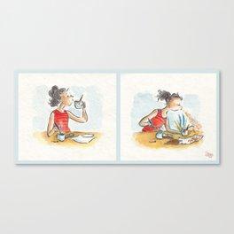 Painting Hazards Canvas Print