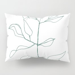 One line plant Pillow Sham