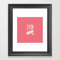 The Rules of the Internet (red shaded) Framed Art Print