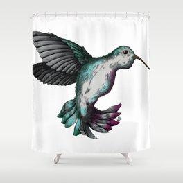 Hummingbird Mid-flight  Shower Curtain