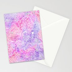 Pink Purple Paisley Love Stationery Cards