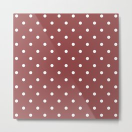 Polka Dots Pattern: Rustic Red Metal Print