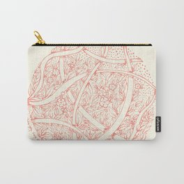 Natural circle Carry-All Pouch
