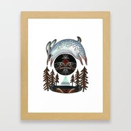 Fleeting Full Moon Framed Art Print
