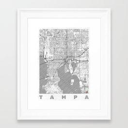 Tampa Map Line Framed Art Print