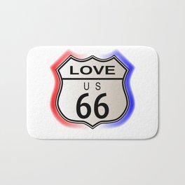 Love Route 66  Bath Mat