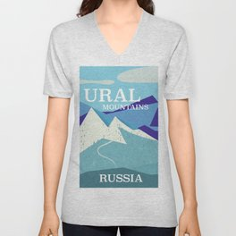 Ural Mountains Russia Unisex V-Neck
