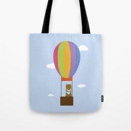 Llama in Air Balloon Tote Bag