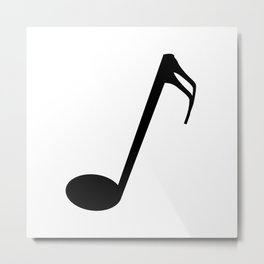 Sixteenth Of A Whole Musical Note Isolated Metal Print