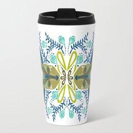 Floral Antlers – Earth Tones Palette Travel Mug