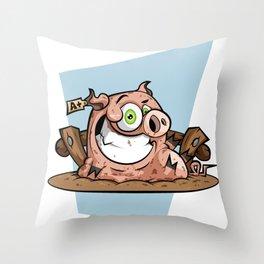 PORKY Throw Pillow