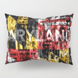 Maryland Flag Print Pillow Sham