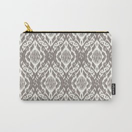 Damask Ikat : Taupe Carry-All Pouch