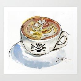 Latte Art Print