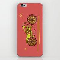 bike iPhone & iPod Skins featuring Bike by Daniella Gallistl