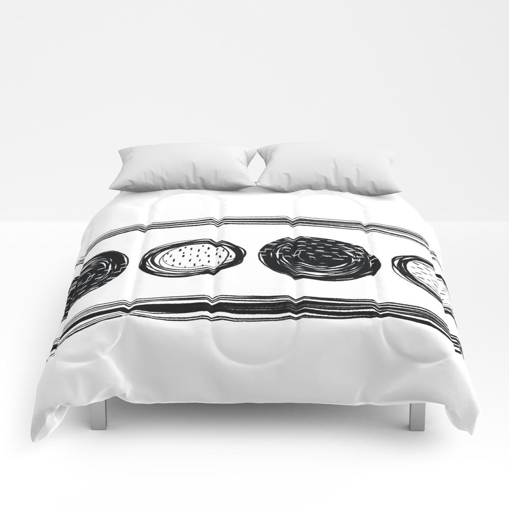 Black White One Comforter by Karapeters CMF9062757