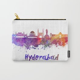 Hyderabad skyline in watercolor Carry-All Pouch