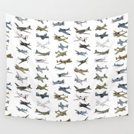 Various American WW2 Airplanes Wall Tapestry