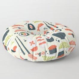 Sushi Dreams – Cream Floor Pillow