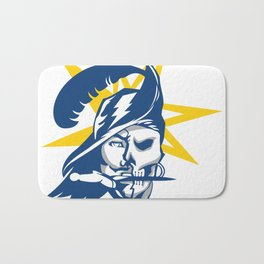 Tampa Bay Sports V3 Blue w/ Yellow Star Bath Mat