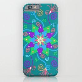 Dancing Star Mandala iPhone Case