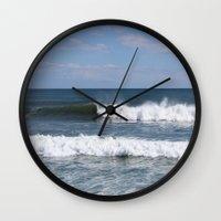 surfer Wall Clocks featuring Surfer by moonstarsunnj