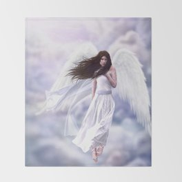 Some Clouds Have Wings Throw Blanket