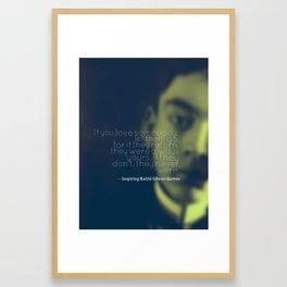 Most Inspiring Kahlil Gibran Quotes - 4 Framed Art Print