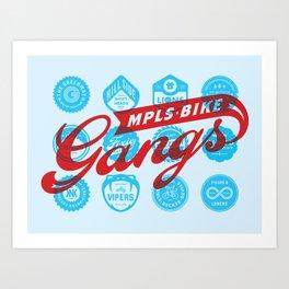 Minneapolis Bike Gangs Art Print