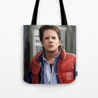 marty mcfly Tote Bags featuring Marty McFly by Kaysiell