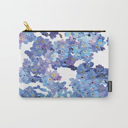 Periwinkle Flowers-Floral Design-Style 3-by Hxlxynxchxle Carry-All Pouch