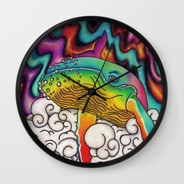 Lucas the Space Whale Wall Clock