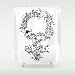 Feminist Flower  2.0 Shower Curtain