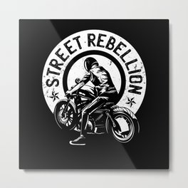 Gift for motorcycle rider Metal Print