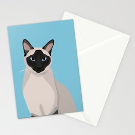 The Regal Siamese Cat Stationery Cards