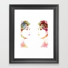 The Colors Of Her Heart Framed Art Print