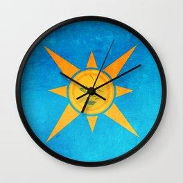 Sun Shining and Moon Sleeping Wall Clock