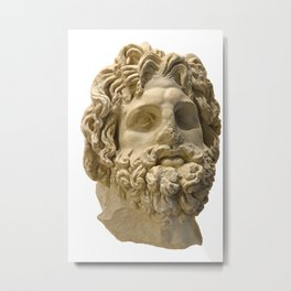 Ancient Roman Statue of the God Asclepius Metal Print