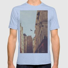 Two Mens Fitted Tee Athletic Blue SMALL