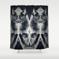 bats Shower Curtains featuring Twin bats by Gun Alfsdotter
