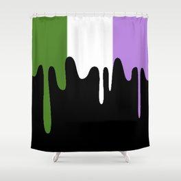 Genderqueer Slime Shower Curtain