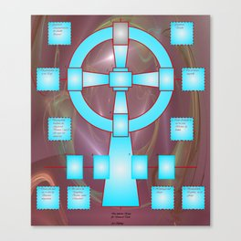 the celtic cross for universal tarot Canvas Print
