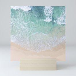 Green Ocean And Seashore Mini Art Print