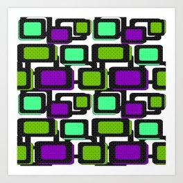 Retro . Abstract geometric pattern 2 Art Print